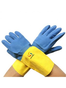 Double Color Latex Gloves